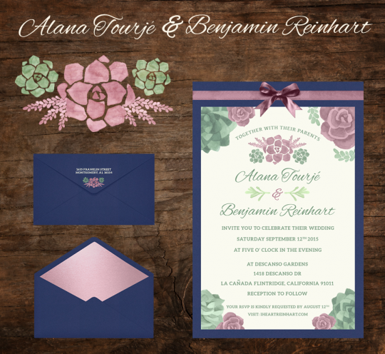 Tourje & Reinhart Wedding Invitation