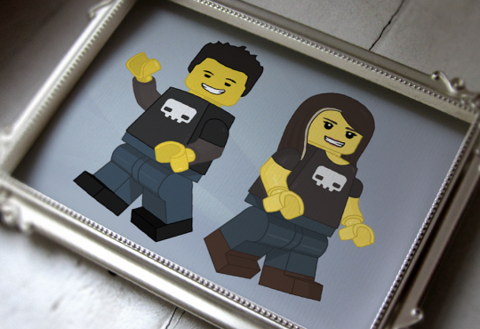 A simple personalized Lego™ inspired Illustration for Dead Pixel