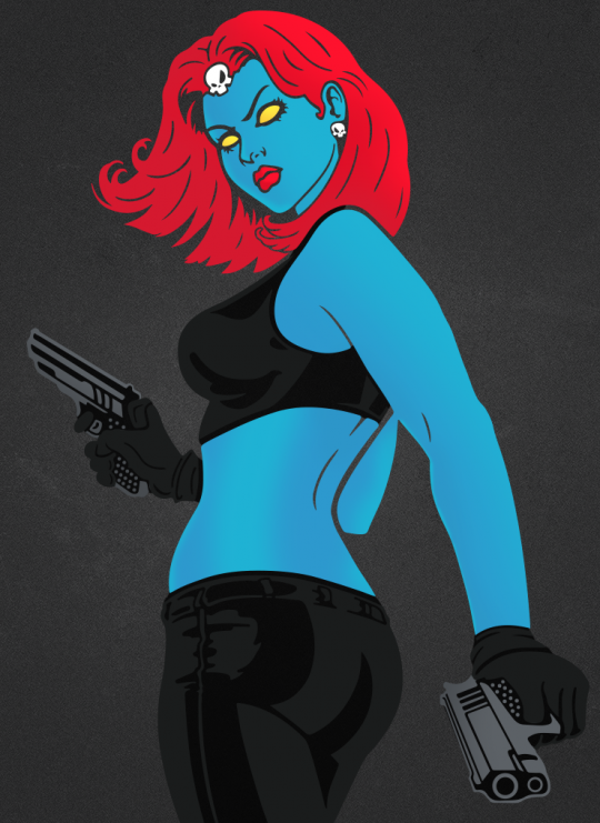 Mystique decal done in Adobe Illustrator