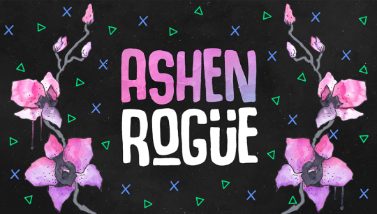 Ashen Rogue Brand Redesign Watercolor Orchid Wallpaper