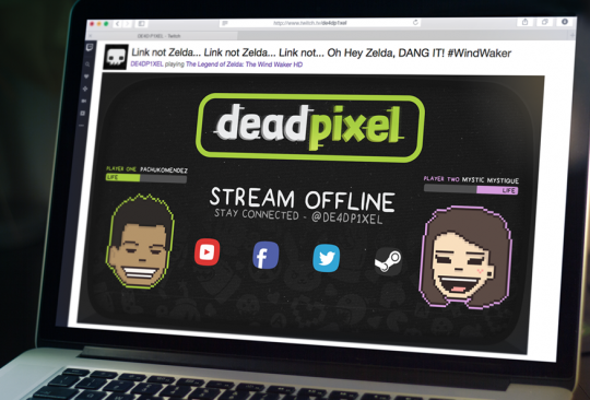 deadpixel's Twitch livestreaming page graphics